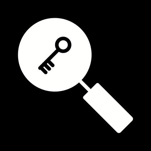 Icône de recherche par mot clé vecteur