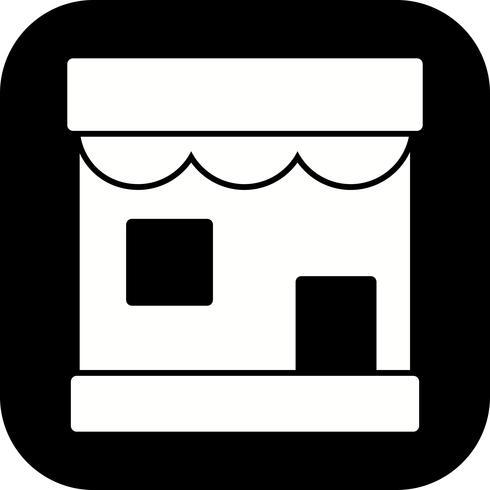 Icône de magasin de vecteur