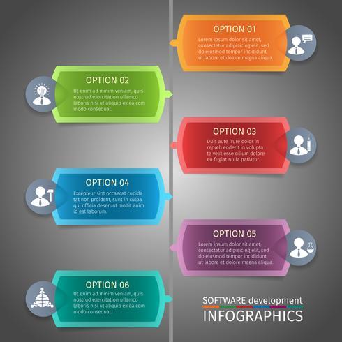Conception infographie SEO vecteur