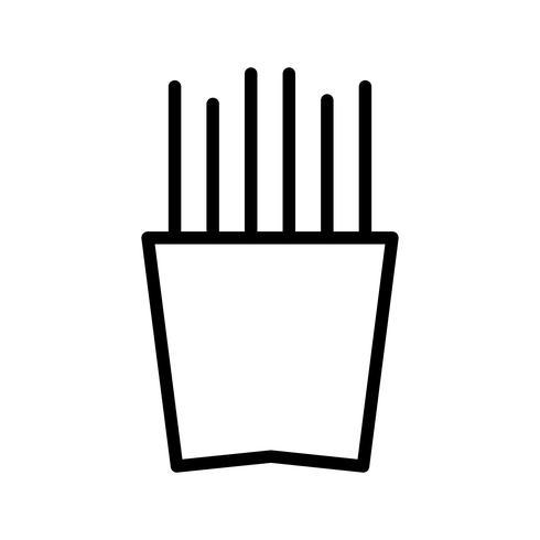 Icône de vecteur de frites