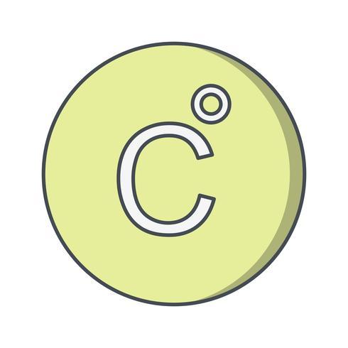 icône de vecteur celsius