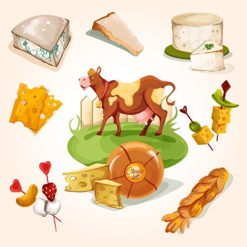 Concept de fromage naturel vecteur