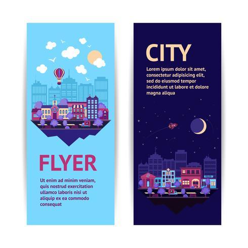 Bannière de la ville verticale vecteur