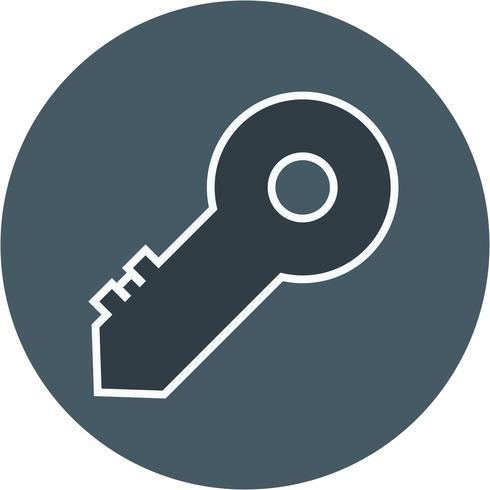 Icône clé vectorielle vecteur
