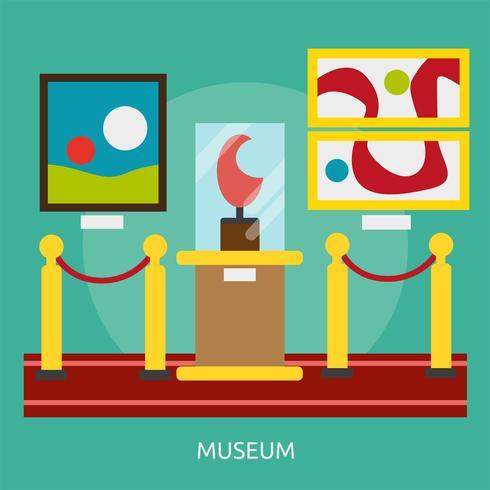 Musée Illustration conceptuelle Design vecteur