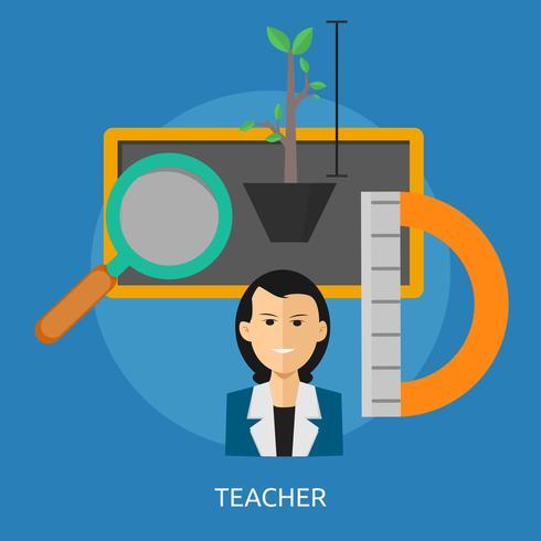 Illustration conceptuelle enseignant Conception vecteur