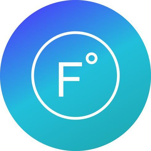 icône de vecteur de fahrenheit