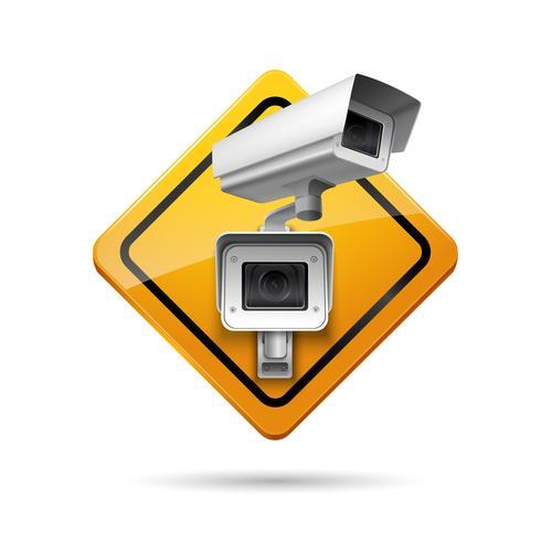 Signe de surveillance vidéo vecteur