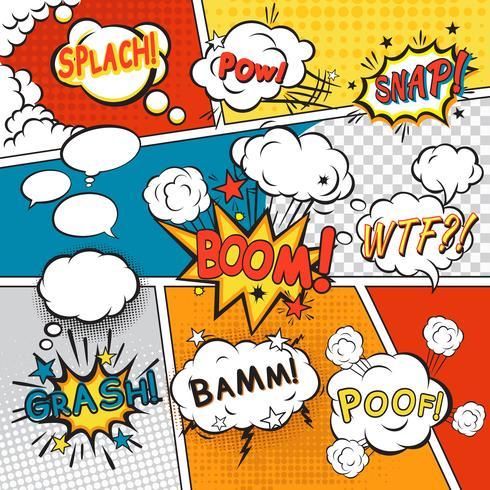 Bulles de bandes dessinées vecteur