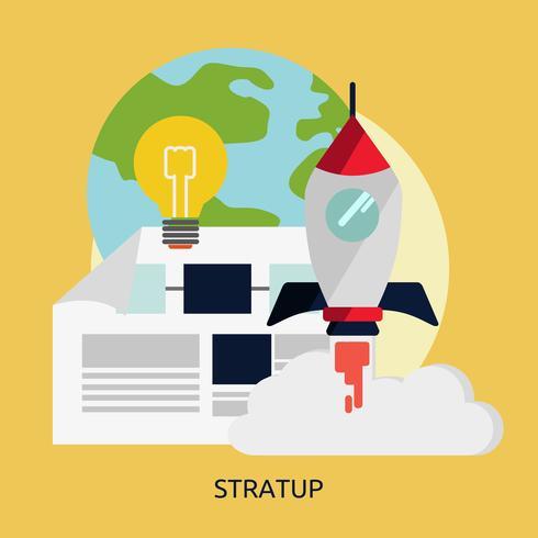 Startup Illustration conceptuelle Design vecteur
