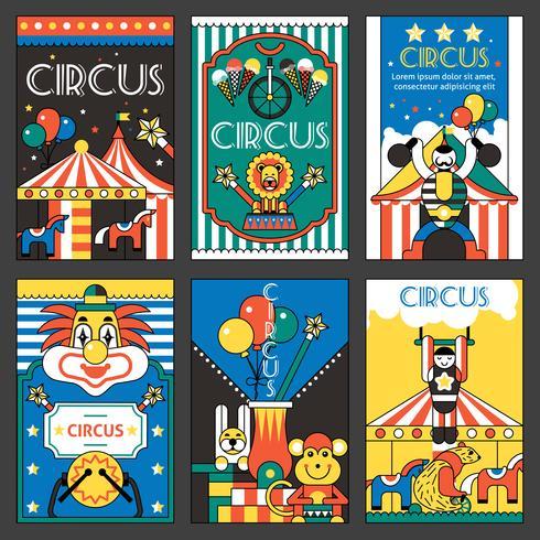 Affiches rétro de cirque vecteur