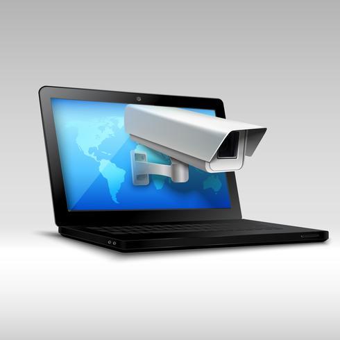 Sécurité web des ordinateurs portables vecteur