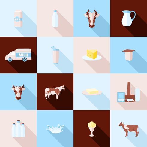 Icônes de lait vecteur