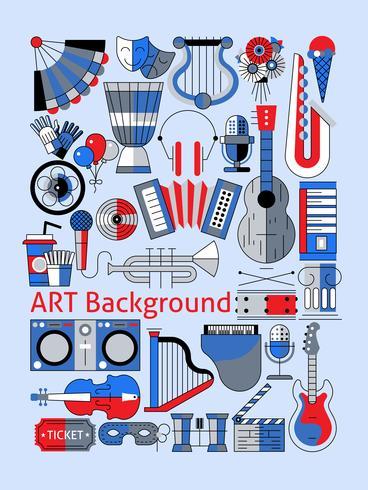 Set de ligne plate Art vecteur