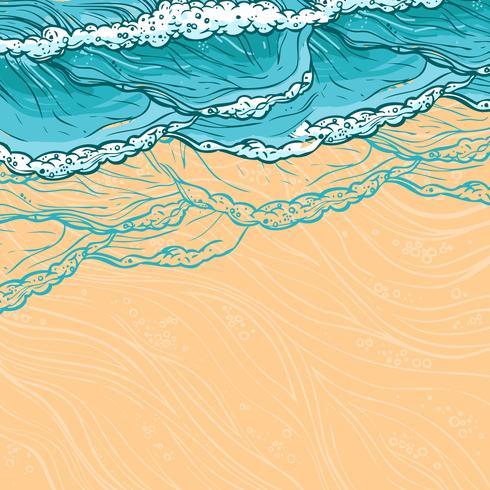 Fond des vagues de la mer vecteur