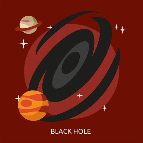 Trou noir conceptuel illustration Design vecteur