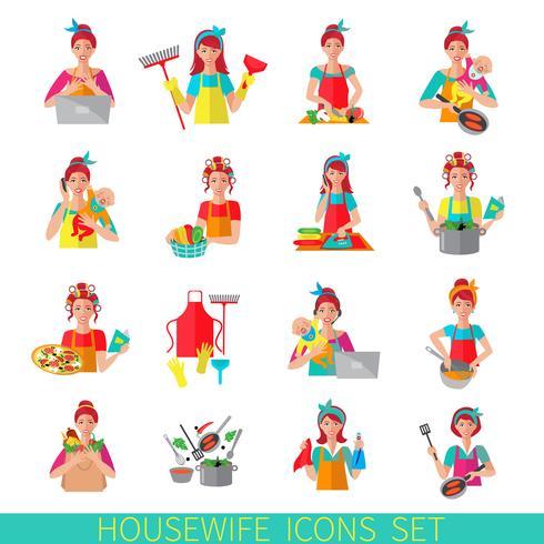 Ménagère Icon Set vecteur
