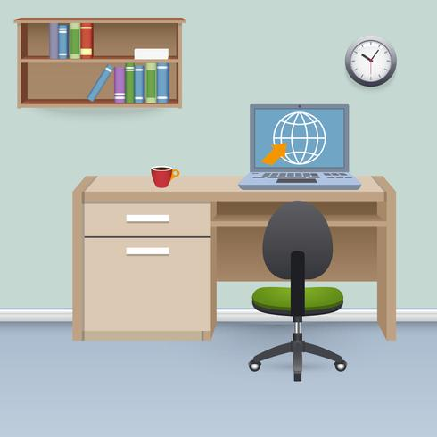 Illustration intérieure du cabinet vecteur