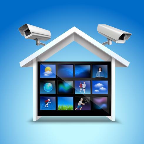 Concept de sécurité vidéo vecteur
