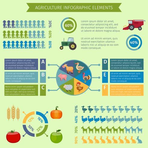 Éléments infographiques de l'agriculture vecteur