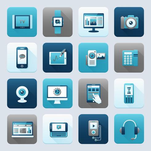 Internet et appareil mobile vecteur