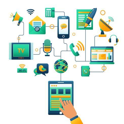 Illustration du concept de communication vecteur