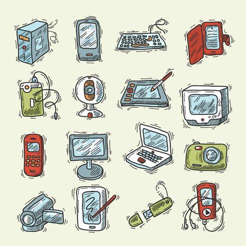 Ensemble d'appareils numériques vecteur