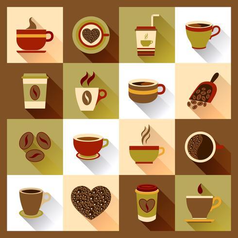 Icônes de tasse à café vecteur