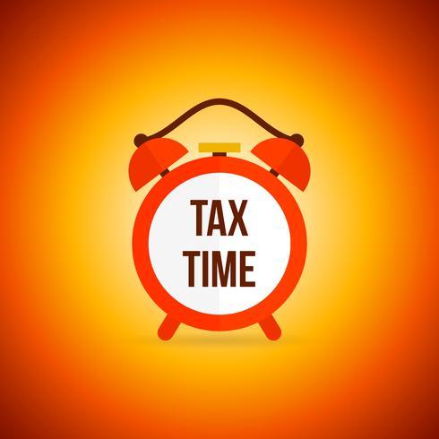 Réveil des taxes vecteur