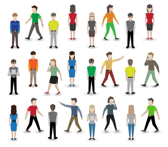 Personnes avatars pixel vecteur