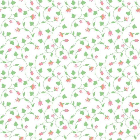 Motif floral sans couture avec petites fleurs roses vecteur