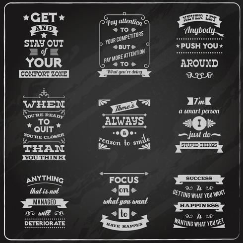 Tableau des citations de succès vecteur
