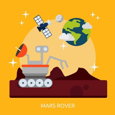 Mars Rover Conceptuel illustration Design vecteur