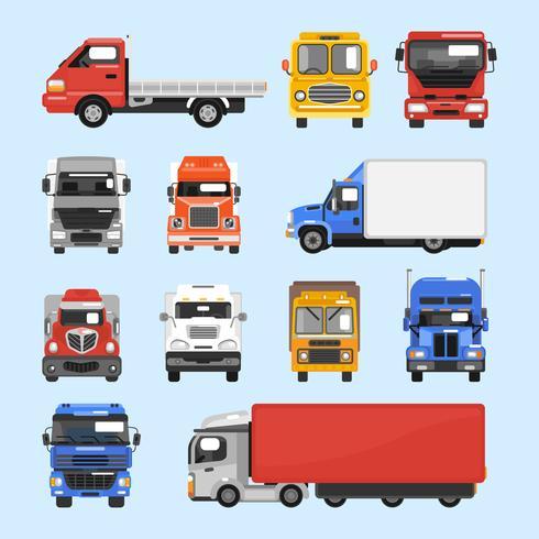 Ensemble d'icônes de camion vecteur