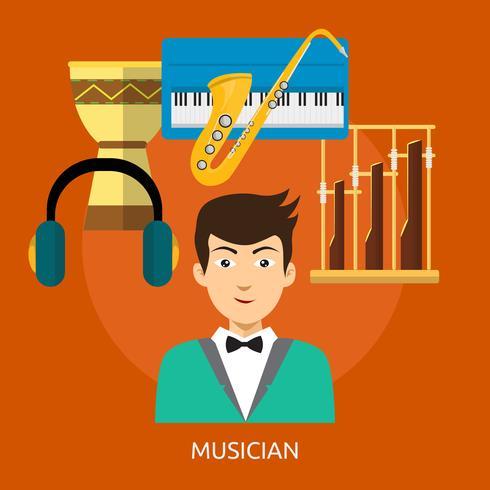 Musicien 2 Illustration conceptuelle Design vecteur