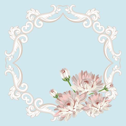 Cadre floral sans soudure vecteur