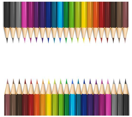 Design de fond avec des crayons de couleur vecteur