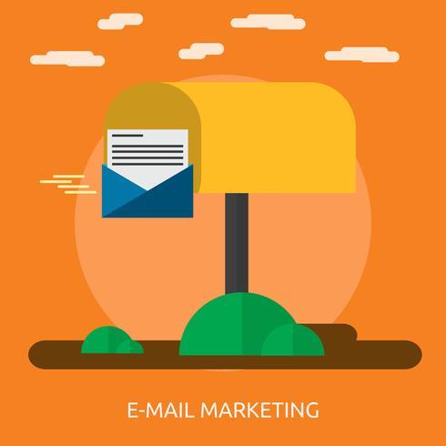 E-mail Marketing Illustration conceptuelle Conception vecteur