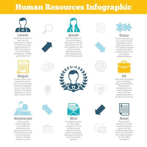 Affiche imprimée infographie ressources humaines vecteur