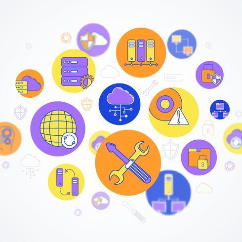 Concept de réseau et de serveur vecteur