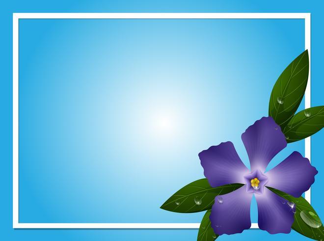 Modèle de bordure avec fleur de pervenche bleue vecteur