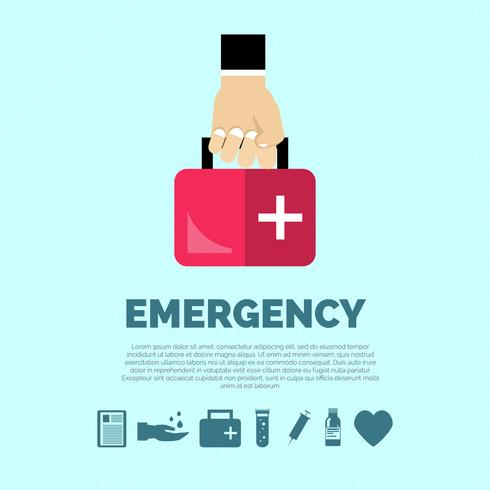 Concept d'urgence vecteur