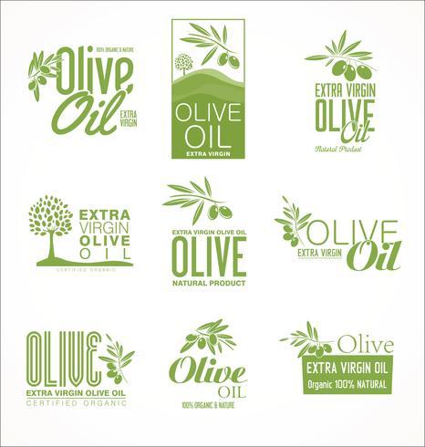 Collection de rétro fond d'or vintage à l'huile d'olive vecteur