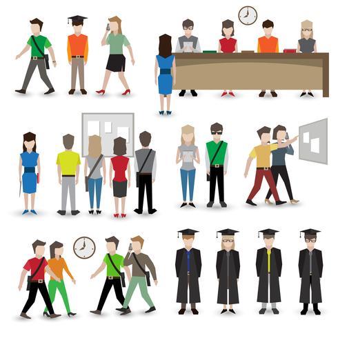 Avatars des gens de l'université vecteur