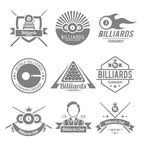Billard Noir Label vecteur