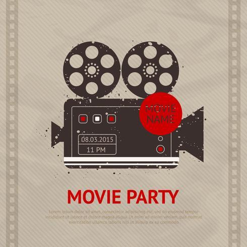 Affiche de film rétro vecteur