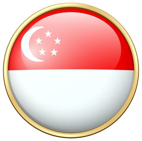 Conception d'icône pour le drapeau de Singapour vecteur