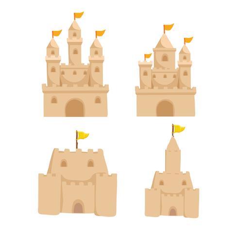 conception de la collection de vecteurs château de sable vecteur