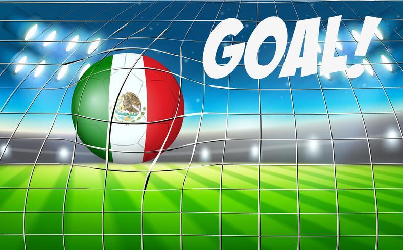 Drapeau de ballon de football mexicain vecteur
