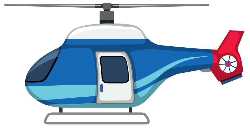 Un hélicoptère isolé sur fond blanc vecteur
